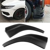 1 Pair Car Front Deflector Spoiler Splitter Diffuser Bumper Canard Lip Body Shovels XR657