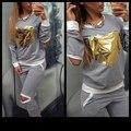 womans Sets tracksuit brand sweatshirt+pants one set woman's gray joggers sports suit golden heart tracksuits costumes Sweatsuit