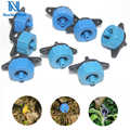 NuoNuoWell 2L/4L/8L Steady Flow Dripper Blue Regulator Pressure Compensating Drip Emitter Adjustable Irrigation Fittings 50pcs