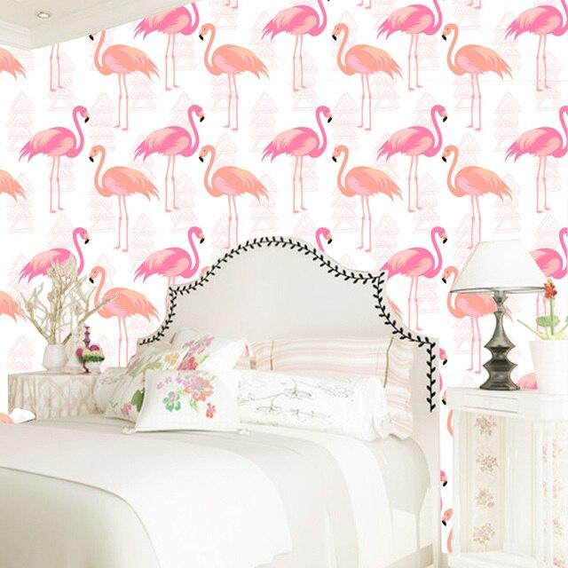 Tuya Kunst Benutzerdefinierte tapete 2017 rosa flamingo vögel muster ...