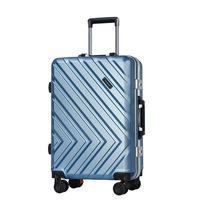 High quality ABS+PC trolley case,20 24 inch suitcase,New aluminum frame luggage,Stylish luggage box,Silent caster valise