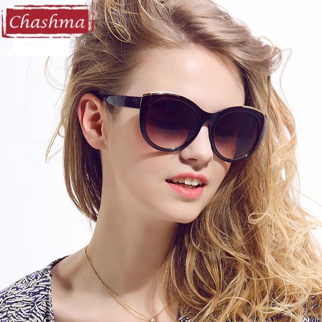 b27657dcacce13 Chashma Marque Femmes Soleil Lunettes Qualité De Mode Cat Eye UV400 lunettes  de Soleil pour Femme