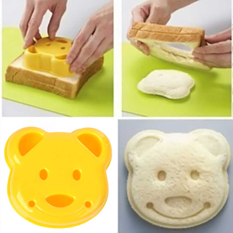Cute DIY Bear Sandwich Mold Toast Bread Stamp Mold Cutter Tool Kit