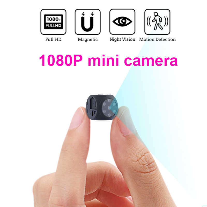 HD 1080P Portable Mini Camera with Night Vision and Motion Detection Indoor Outdoor Small Security Camera support hidden TF card