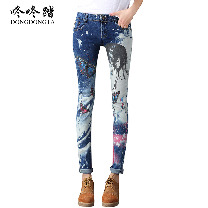 DONGDONGTA New Autumn Fashion Skinny Jeans