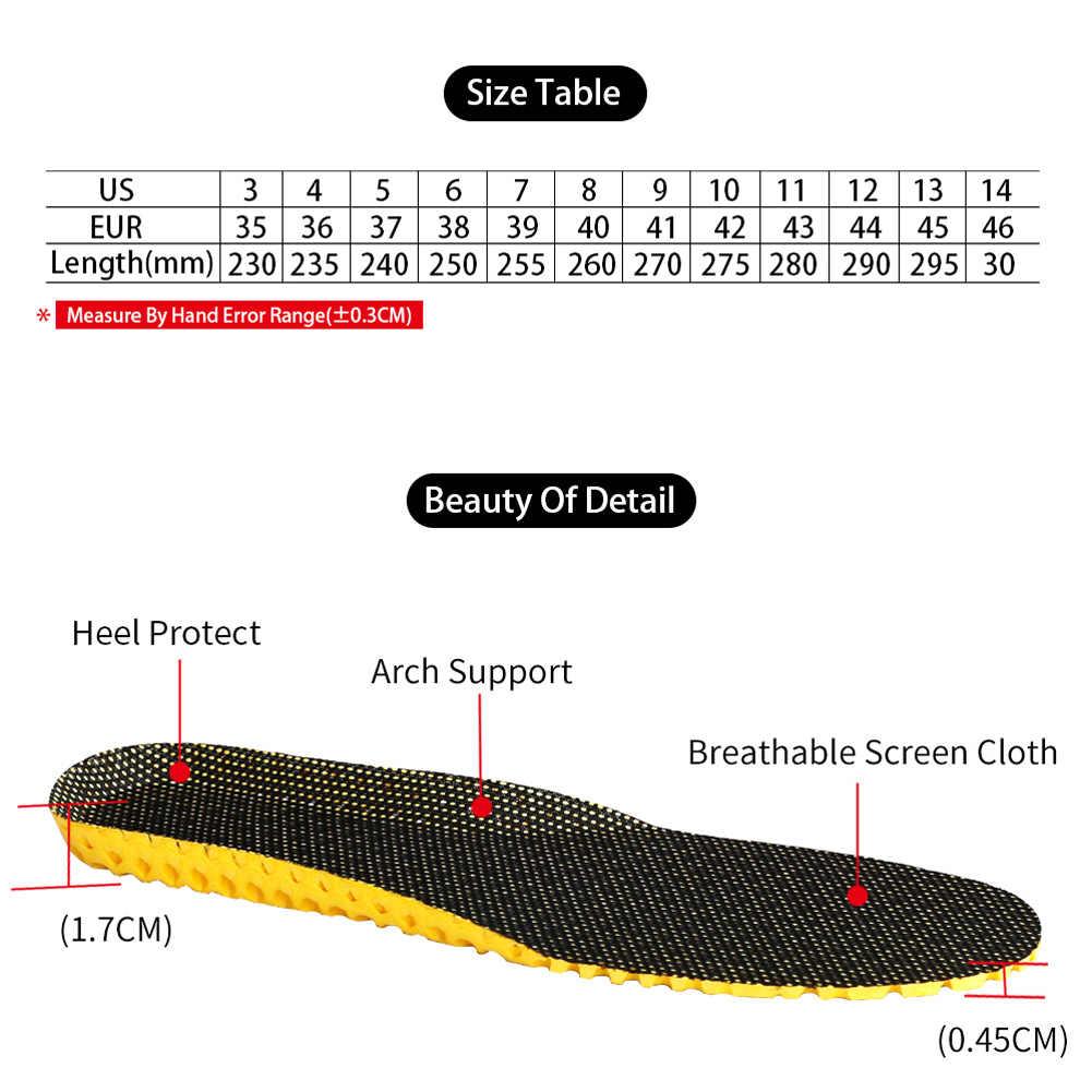 1 par de zapatos Unisex plantillas ortopédicas memoria espuma deporte arco soporte insertar mujeres hombres verano suelas transpirables almohadilla