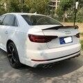 Для Audi A4 B9 4 Двери Седан 2016 2017 2018 M4 Стиль Высокое качество углеродное волокно заднее крыло крыша задняя коробка декорированный спойлер