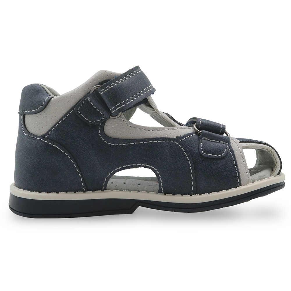 Eur Apakowa Estrenar Niños A Pequeños Cerrada Zapatos Cuero Planos De Sandalias Ortopédicas Punta 2018 Pu Para UVpGMqzS