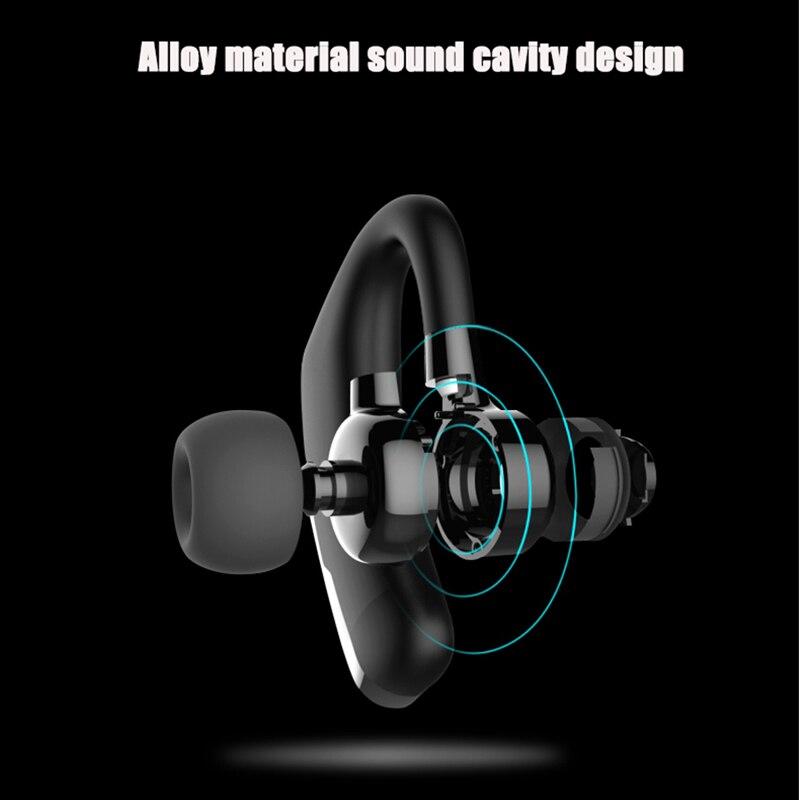 DAONO V9 Handsfree Business Bluetooth Headphone With Mic Voice Control Wireless Bluetooth