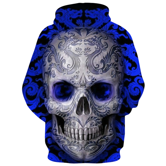 Hot Sale Blue Skull 3D Hoodie Fashion Sweatshirt Men Women Skull Hoody Drop Ship Tracksuit Brand Hooded Jacket 6XL Streetwear 1