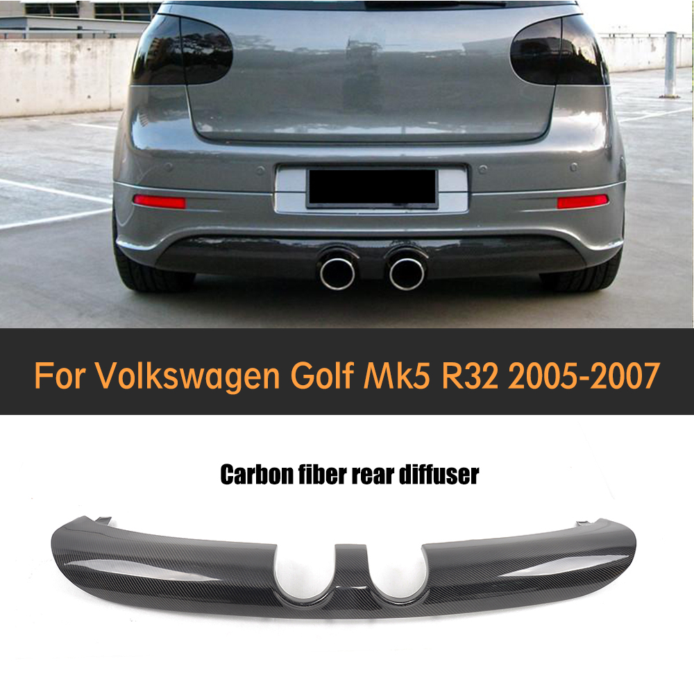 golf 5 mk5 r32 r32 carbon fiber auto rear bumper spoiler diffuser diffuser lip for vw golf. Black Bedroom Furniture Sets. Home Design Ideas