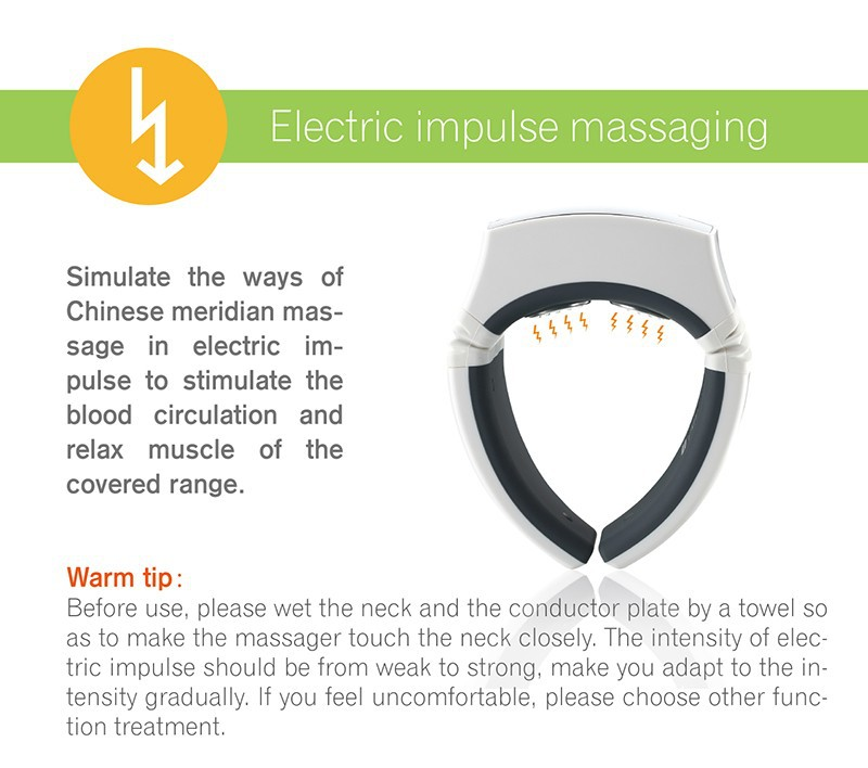 KIKI Beauty World.Wireless Remote Control Neck massager health care product Cervical therapy instrument massage tools 9
