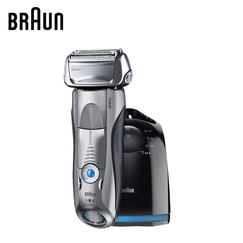Braun Electric Shaver 7865CC For Men Rechargeable Safety Razor Series 7 Reciprocating Shaving Straight Razor Shaving Machine braun series 3 electric shaver 3080s electric razor blades shaving machine rechargeable electric shaver for men washable