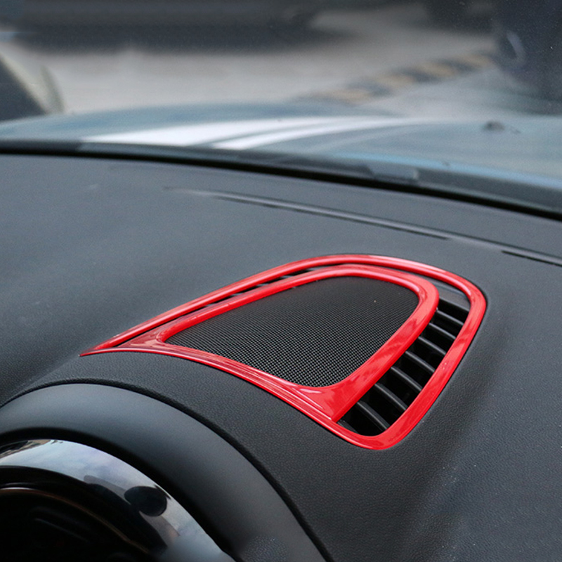Auto Center Console Panel Air Vent Outlet Cover Trim Interior Sticker Decal For MINI Cooper New Countryman F60 2017 Car Styling