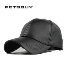 Fetscomprar nueva gorra de cuero de alta calidad gorra de camionero de PU  de Color sólido HIP HOP gorra de béisbol ajustada somb. 917eabc41fd