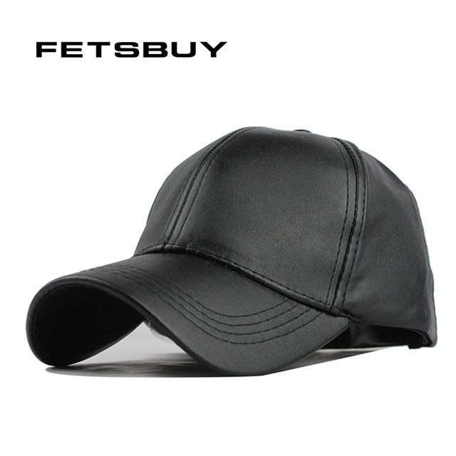 Fetscomprar nueva gorra de cuero de alta calidad Biker camionero gorras PU  Color sólido HIP HOP 12830362032