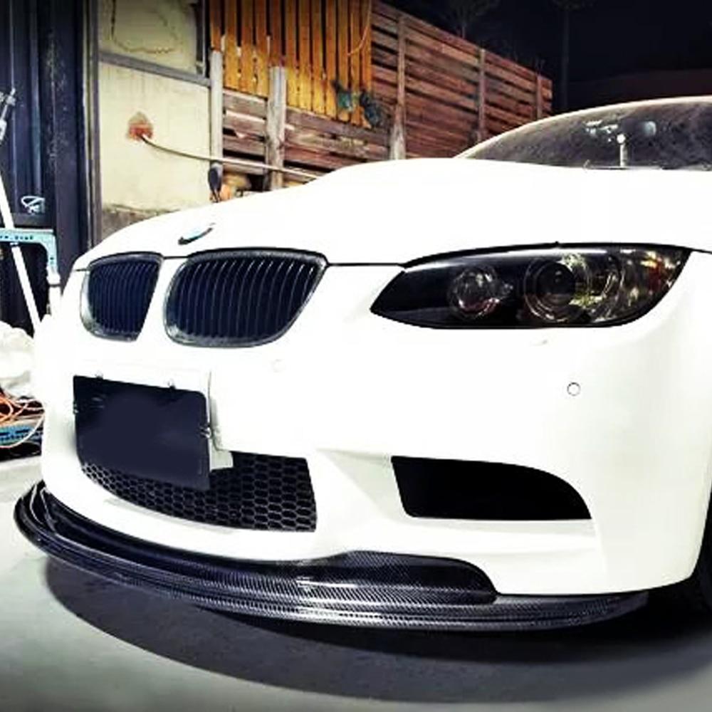 E92 M3 GTS Style Carbon Fiber Body Kit Front Bumper Lip for BMW E92 2006-2013 M3 Bumper Only