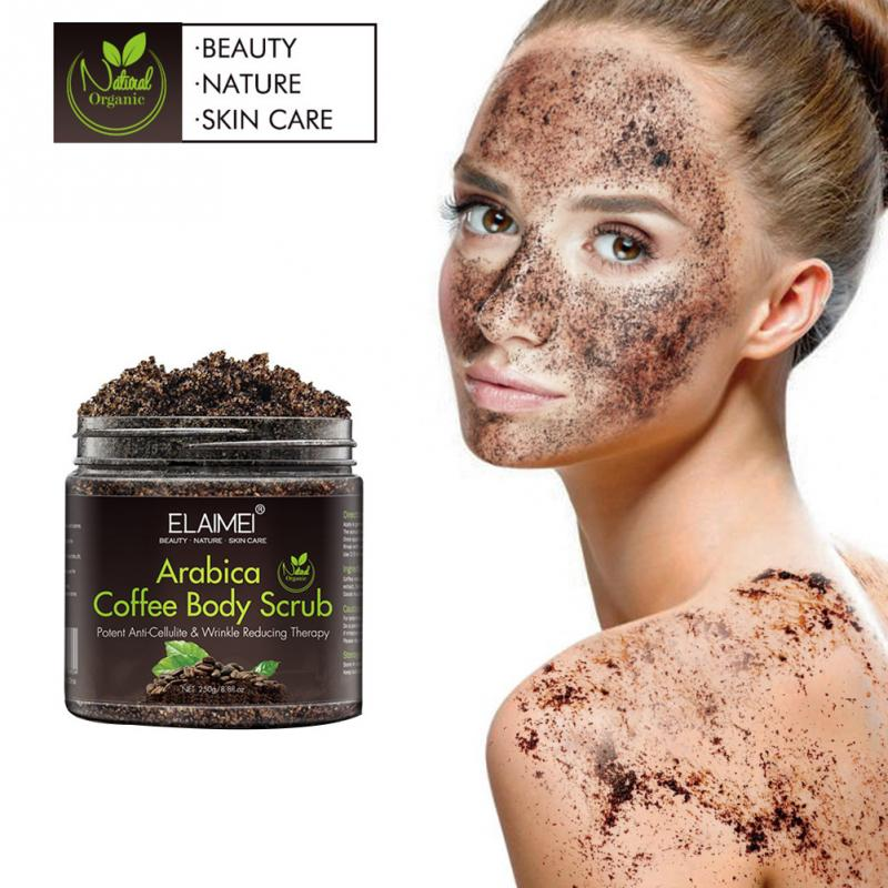 Coffee Scrub Body Scrub Cream Facial Dead Sea Salt For Exfoliating Whitening Moisturizing Anti Cellulite Treatment Acne(China)