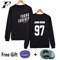 Kpop BTS Capless Sweatshirt Women Cotton Korean Popular Bangtan Hip Hop Women Hoodies Sweatshirts Young Forever
