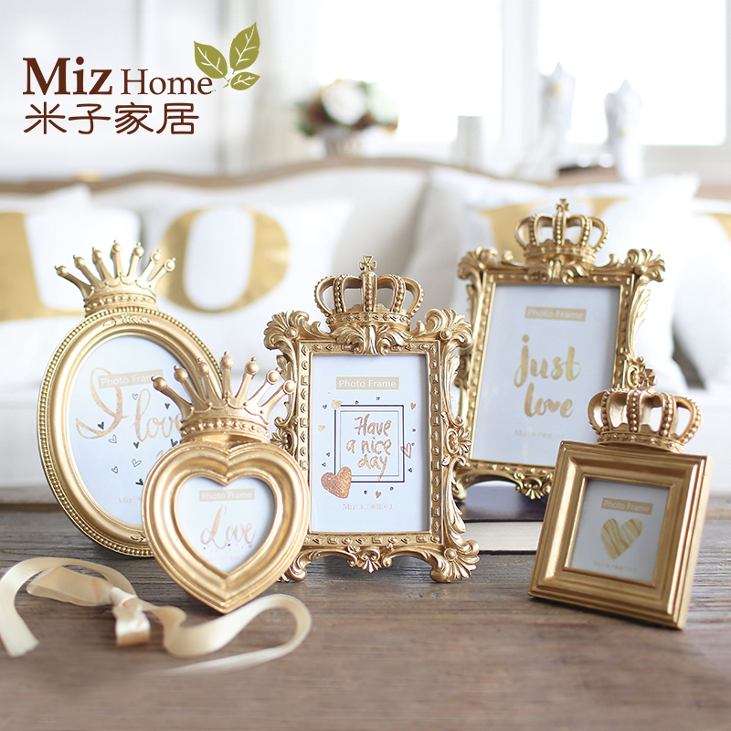 Miz Homw 1 Piece Bachelor Style Gold Luxury <font><b>Picture</b></font> <font><b>Frame</b></font> for Home Photo <font><b>Frame</b></font> Set