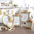 Miz Homw 1 Unidades de Estilo de Soltero de Oro Marco de Imagen para el Hogar Marco de Fotos de Lujo Conjunto
