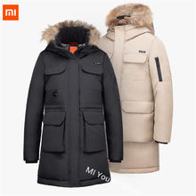 Original Xiaomi 90 points Coat Outdoor Leisure Long Section Goose Down Jacket 4 Waterproof Winter Warm Jacket Men Down Jacket(China)