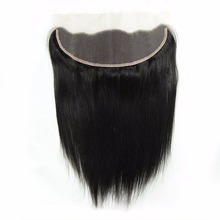 High Quality Brazilian Straight Hair Lace Frontal Closure Ear To Ear Customized Lace Frontals With Baby Hair Middle/Free Part