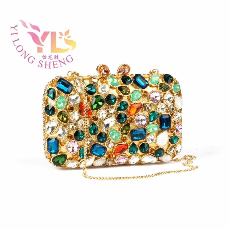 Mode sacs à main Cluches femmes luxe cristal clair soirée embrayage sac à main dîner mariage fête embrayage sacs à main YLS-G29