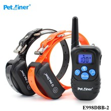 Pet Dog Training Collar 300M Electric Shock Vibra Remote Control Anti Bark Eelctric Shock Petrainer E998DBB-2