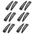 HOT 6 Pairs Black Metal Hairclip Hair Clip for Girls