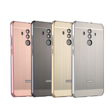 Mate 10 Pro Luxury Aluminum Bumper Case For Huawei Brushed Metal Hard PC Back Cover