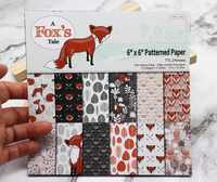 12/24 sheet 6X6 Fox tale single-patterned paper Scrapbooking paper pack for Decor handmade craft paper craft Background pad