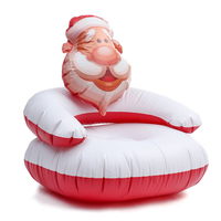 New Outdoor Christmas Inflatable Lounger Lazy Bag Air Sofa Portable Waterproof Santa Claus Inflatable Chair Air Bed Sleeping Bag