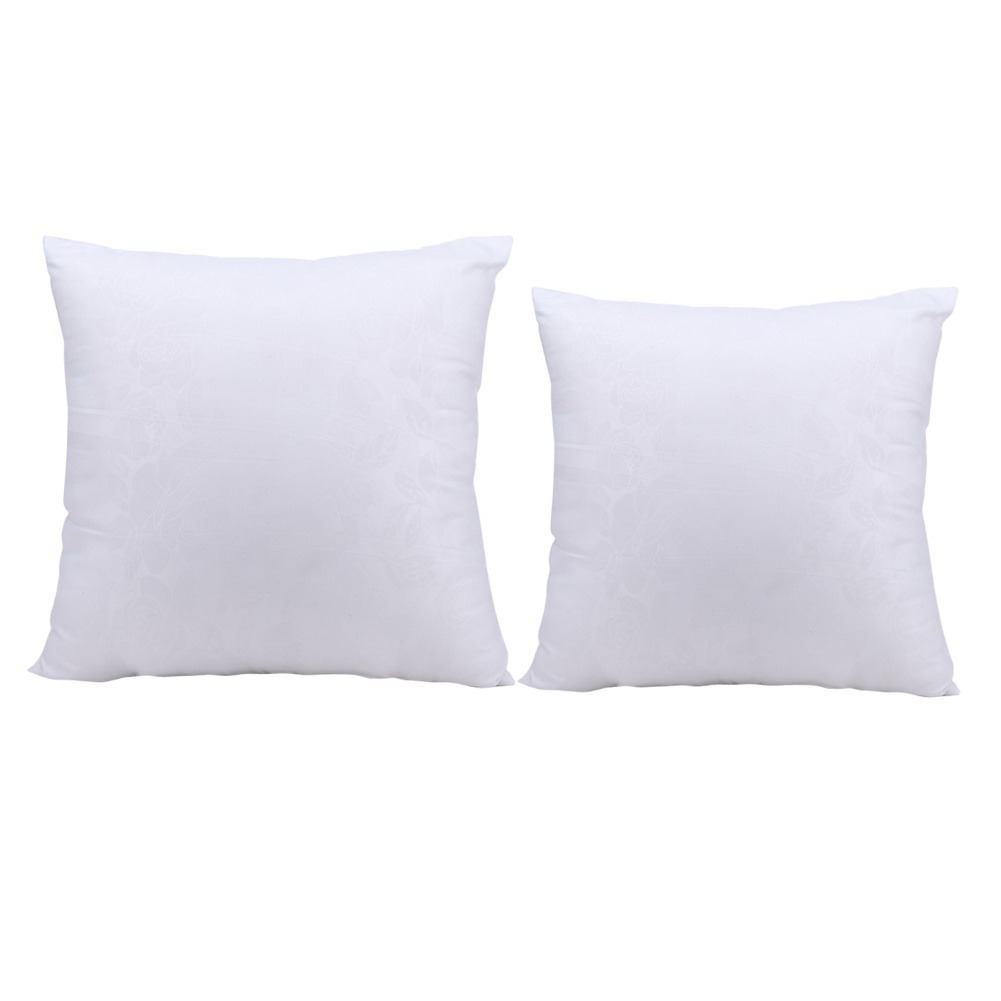 white cushion inserts pillow