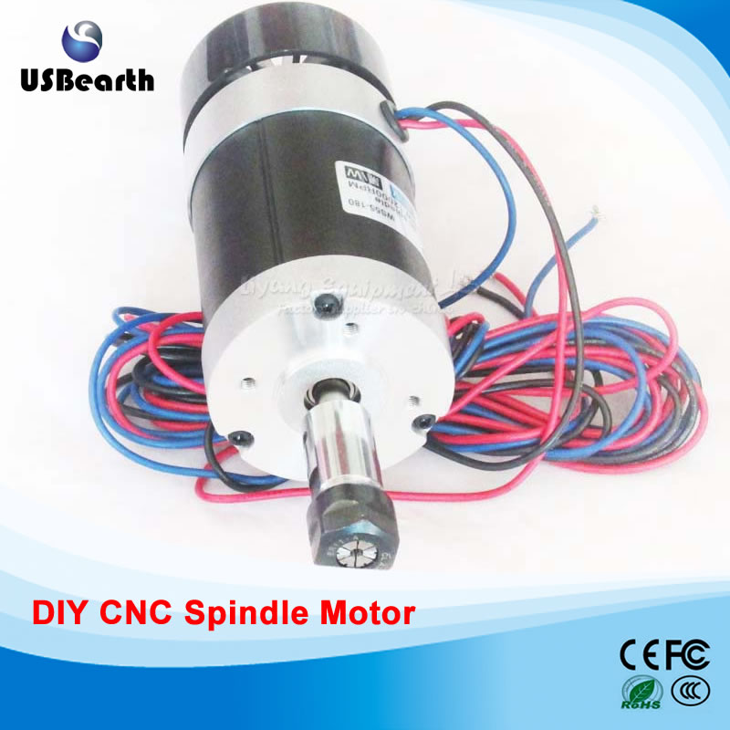 Powerful 400W Brushless Spindle Motor High Speed ER11 DC CNC Spindle PCB Engraving Machine 48V diy engraving machine ws55 180 brushless spindle 400w with er11 mach3 speed drive fixture