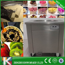 thailand fry ice cream machine fried ice roll pan machine flat pan rolled fried ice machine for Julian to his airport