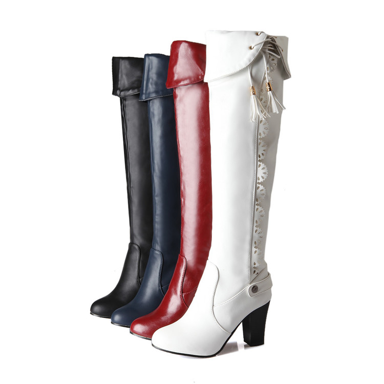 winter boots new 2017 big size 34 43 knee high boots