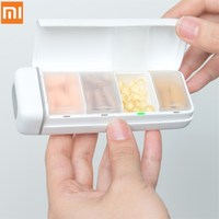 Xiaomi HiPee Smart Travel Pill Case Splitter Pill Organizer 4 Grid Medicine Container Storage Box Control by WeChat APP|Electric Toothbrushes| |  -