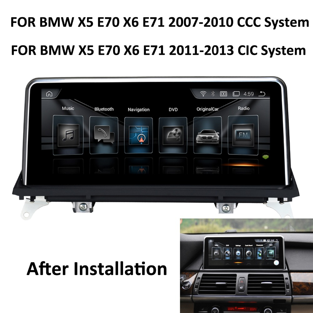"COIKA 10.25"" Android 8.1 System Car GPS Navi Screen For BMW X5 E70 X6 E71 2007-2013 Multimedia Player 6 Core CPU 2+32G RAM WIFI(China)"