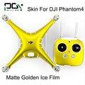 APG DJI Phantom 4 PVC película de hielo de oro mate Piel de La Etiqueta pegatinas de Vinilo Película phantom 4 Accesorios drone Wrap Hoja Engomada de la Película