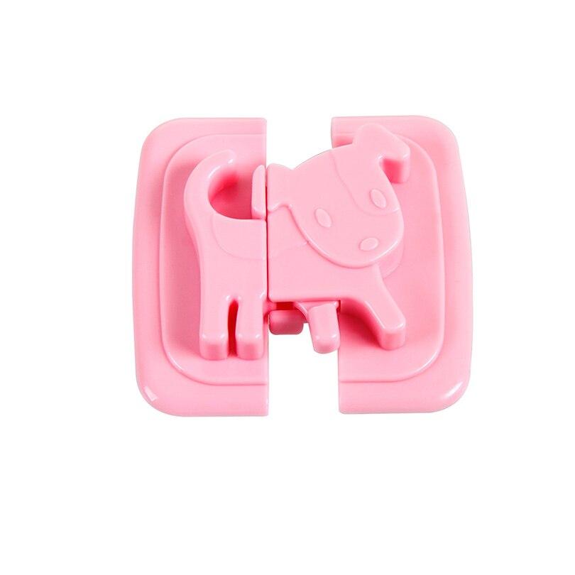 Купить с кэшбэком Puppy Shape Safety Locks for Refrigerators Door Baby Safe Protection From Children Lock Castle Security Blocker Padlock