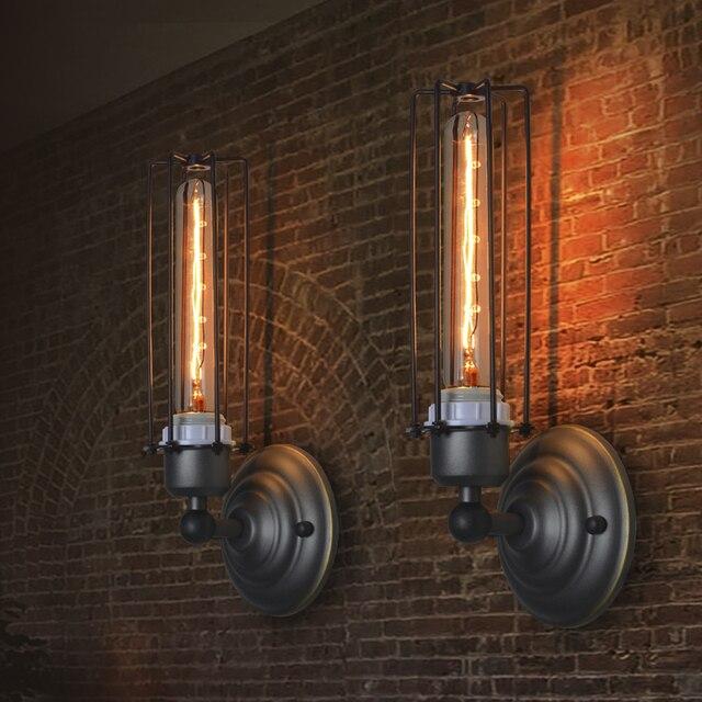American style Retro Iron Art Industrial wall lamp applique murale ...