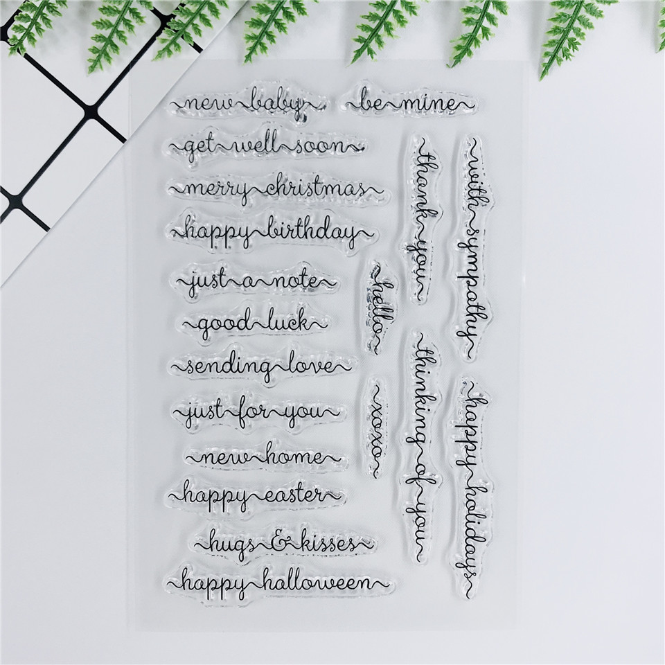 Clear Silicone Stamps Rubber Stamp Seal Scrapbooking Diary Word Cards DIY
