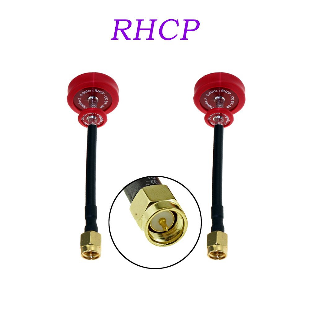 JMT 2Pcs EMAX Pagoda II 2 5.8G 50mm 80mm Antenna Red RHCP RC FPV Transmitter Receiver Omni Directional Flat Panel 2pcs original emax pagoda ii 2 5 8ghz 50mm 80mm rhcp lhcp fpv antenna sma plug connector