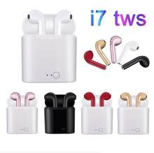 Hot Sell i7s TWS Wireless Bluetooth Earphone Stereo Earbud Headset With Charging Box For iPhone XS Android phone(China)