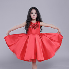 LCJMMO 2017 Fashion Flower Girl Dress Sequin Princess Tutu Party Wedding Dresses for Girls Kids Dress Printing Costume 3-12Y