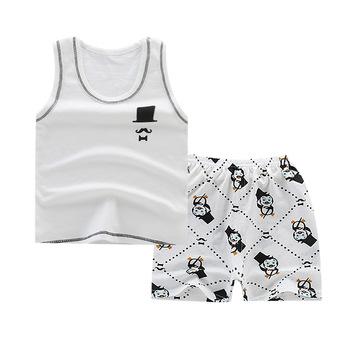 Gorąca sprzedaż marki chłopców odzież dla dzieci letnie chłopców ubrania kreskówki dla dzieci chłopiec odzież zestaw t-shit + spodnie bawełniane ubrania dla dzieci tanie i dobre opinie Unini-yun Moda O-neck Zestawy Swetry 6688 COTTON Dziewczyny Bez rękawów REGULAR Pasuje prawda na wymiar weź swój normalny rozmiar