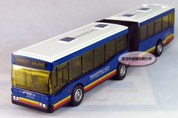 Free shipping-2014 hot kid toy City double articulated bus /three door car/gift box/ alloy model car / puzzle toy Christmas gift
