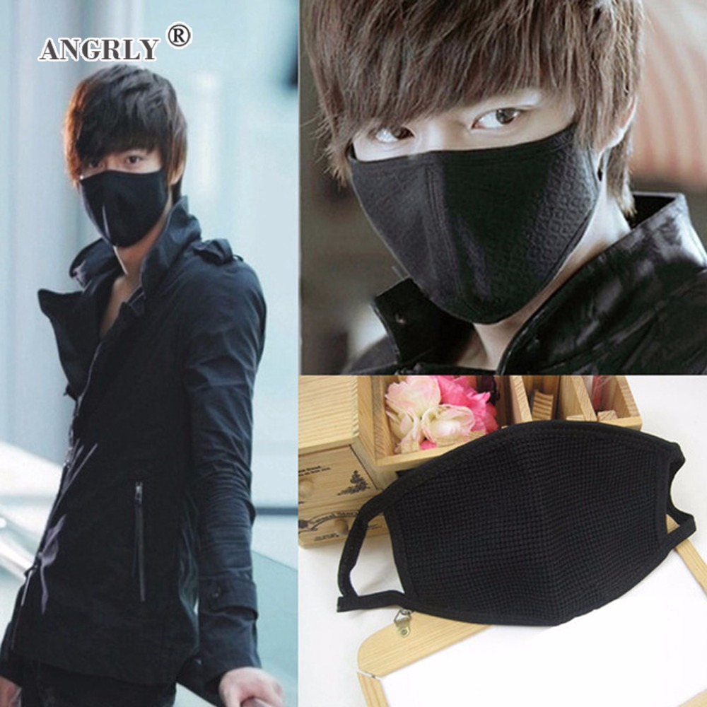 1 Pc Black Health Cycling Anti-Dust Mouth Face Mask Respirator Unisex Fashion Kpop Mouth-Muffle Face Masks Party Gifts Supply