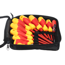 10Pcs Professional Insulated Screwdriver Set Electrician Work Tools with Magnetic Slotted and Phillips Bits Soft Grips стоимость